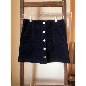 Corduroy navy blue skirt